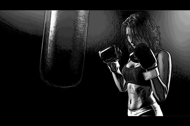 boxovací žena