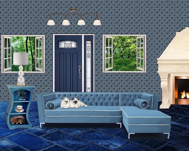 modrá místnost