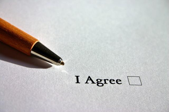 podpis souhlasu