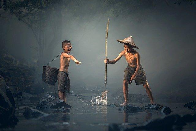 děti - rybaření